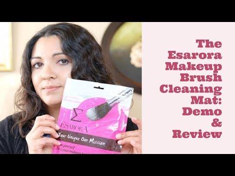 Esarora Makeup Brush Cleaning Mat: Demo & Review