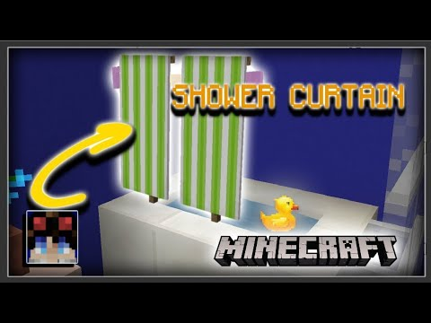 minecraft pe how to make a shower curtain
