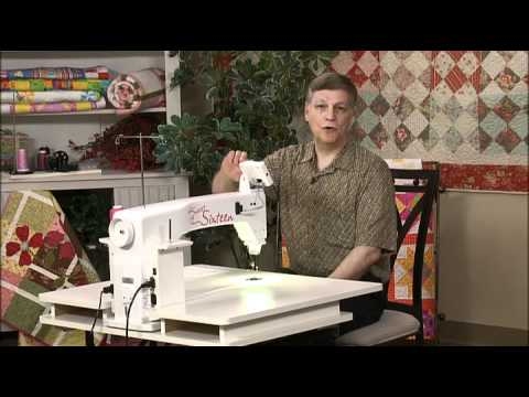 HQ Sweet Sixteen - Getting Started (Part 1) - YouTube : sweet 16 long arm quilting machine - Adamdwight.com