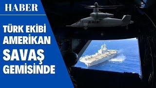 Türk Ekibi Amerikan Savaş Uçağı USS Iwo Jima'yı Gezdi