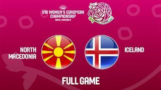 North Macedonia v Iceland - Full Game - FIBA U16 Women's European Championship Division B 2019