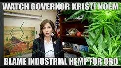 South Dakota Governor Kristi Noem Blames CBD On Industrial Hemp.
