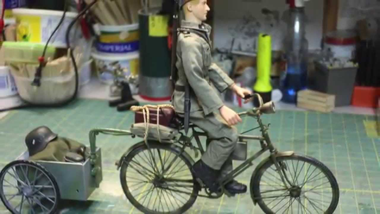 RC 1/6 scale WWII Action figures German Military Bicycle