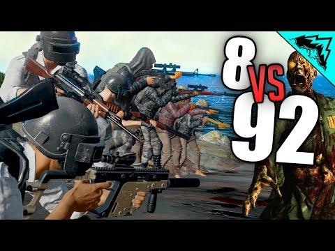 92 ZOMBIES - PlayerUnknown's Battlegrounds Highlights (PUBG Zombies Custom Games) w/ StoneMountain64
