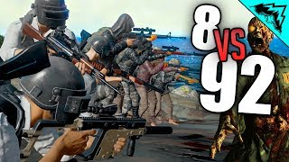 92 ZOMBIES - PlayerUnknown's Battlegrounds Highlights (PUBG Zombies Custom Games) w/ StoneMountain64