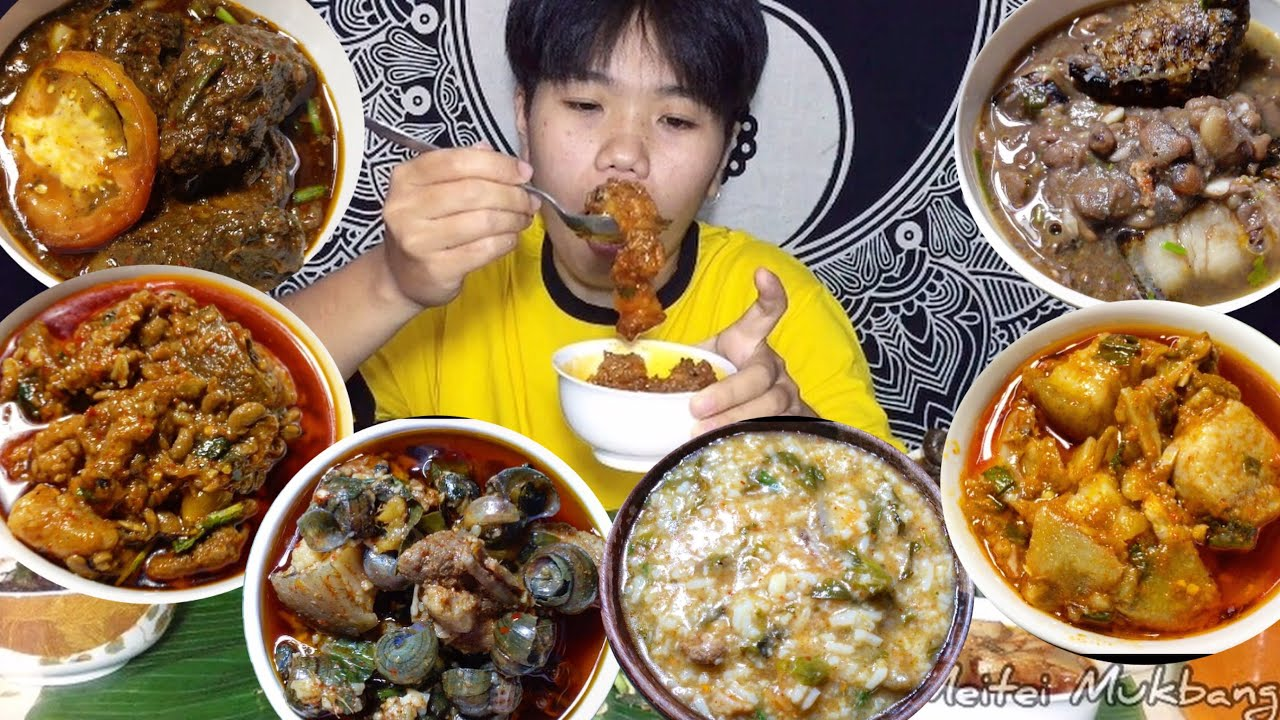 AUTHENTIC NAGA CUISINE MUKBANG | PORK Cooked in 6 Different Ways | Meitei Mukbang