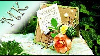 Мини-открытка/Card the hands/Своими руками/Скрапбукинг/Anisa - Творческие МАСТЕР КЛАССЫ