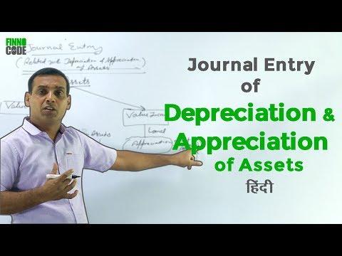 How to Pass Journal Entries [Depreciation & Appreciation of Assets]