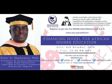 WGHE Webinar Series Episode 3: Financing Model for Higher Education in Africa
