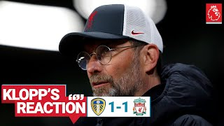 "Klopp's Reaction: ""It's frustrating when you don't get over the line"" 