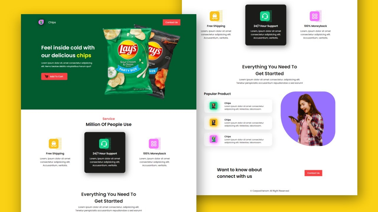 How To Create Product Website With HTML, CSS Only   Pure HTML And CSS