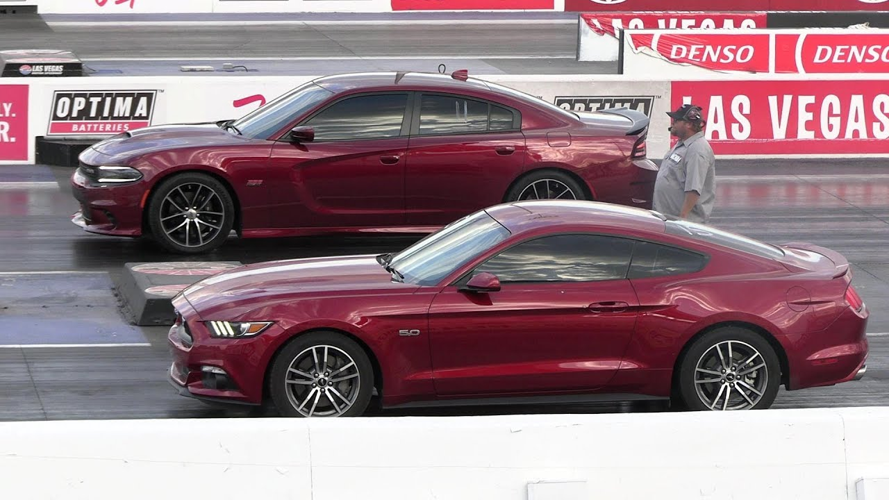 dodge charger scat pack vs mustang gt Mustang GT vs Dodge Charger Scat Pack 2 - drag race