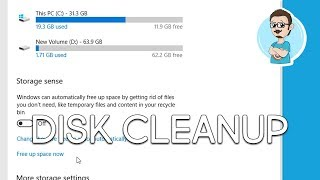 Windows 10 | Using Free Up Space Tool | Clean Up Hard Drive Space!