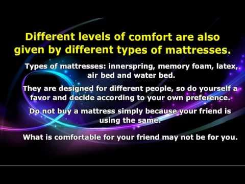 What Makes A Good Mattress?