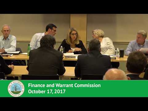 Finance and Warrant Commission - 10/17/17