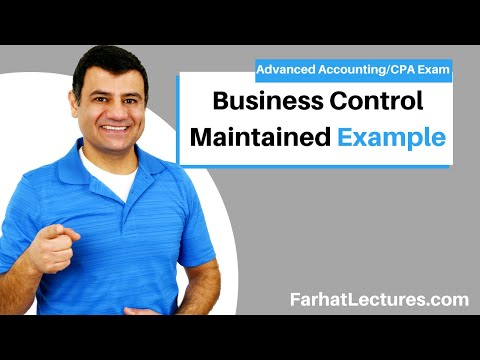 Control Maintained Cost and Equity | Advanced Accounting | CPA Exam FAR | Ch 8 P 2
