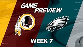 Washington Redskins vs. Philadelphia Eagles | Week 7 Game Preview | Move the Sticks