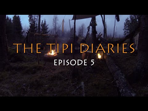 The Tipi Diaries Ep05 - Winter Hot Tent Camping & Bushcraft in Sweden  - Tentipi Safir 7