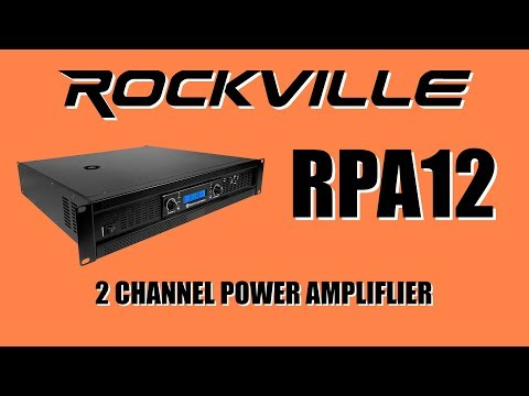 Rockville RPA12 2-Channel Professional Power Amplifier DEMO with 4 Dual 15 inch speakers