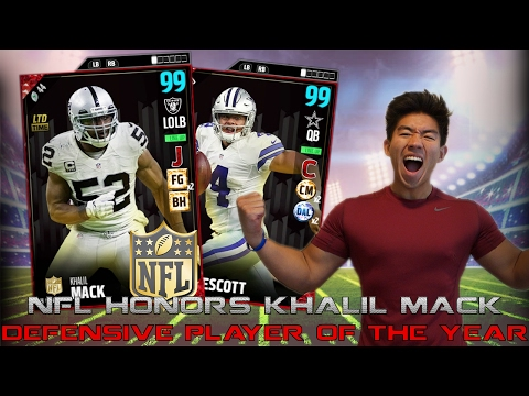 99 OVR KHALIL MACK D MVP! ONE OF THE BEST CARDS IN THE GAME! MADDEN 17 ULTIMATE TEAM