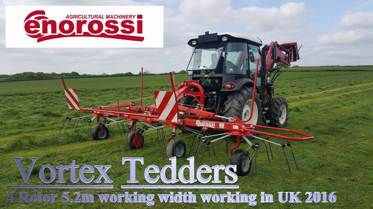 Enorossi Vortex 4 Rotor Tedder working in UK 2016 - Exclusively distributed  by AMIA
