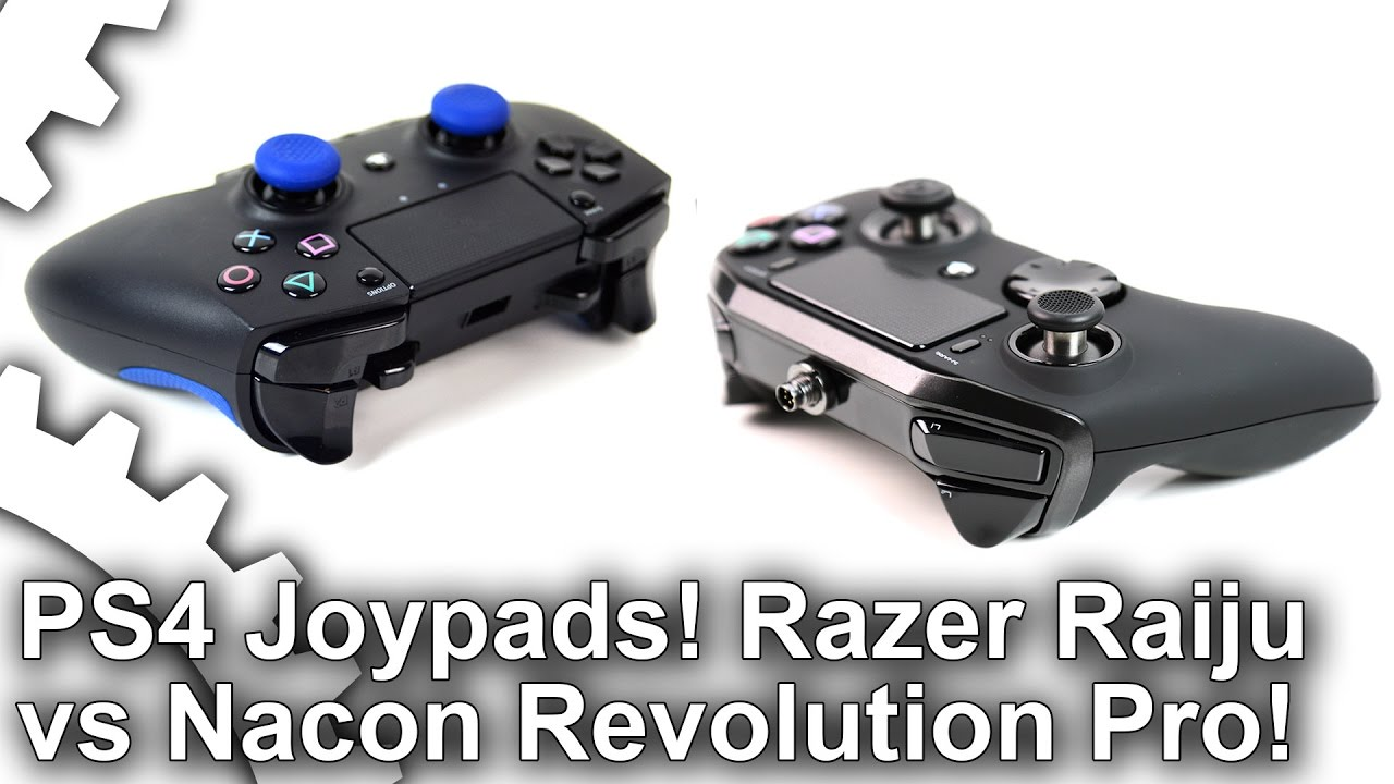 PS4 premium joypad face-off: Razer Raiju vs Nacon Revolution