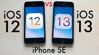 Iphone Se Ios 13 Vs Ios 12 Comparison
