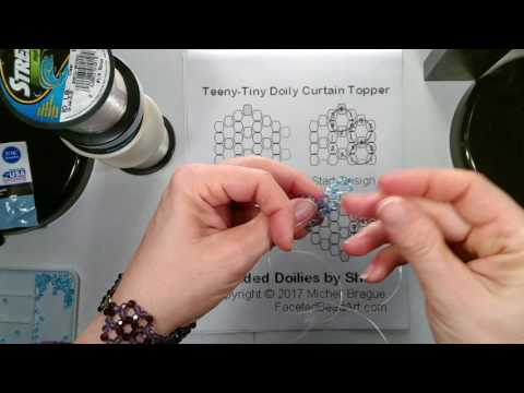 TT Doily Beaded Curtain Beading Tutorial - 2 needle - part 1