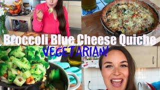 Easy & Delicious -broccoli Blue Cheese Quiche Recipe ( Vegetarian)  -annazindzi