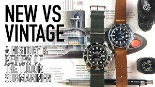 A Tale Of Two Submariners - New Vs Vintage Comparative Review & History - Tudor Vs Rolex 116610 LN
