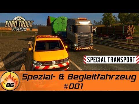 ETS2 - SPECIAL TRANSPORT #001 | Spezial- & Begleitfahrzeug | Let's Play [HD]