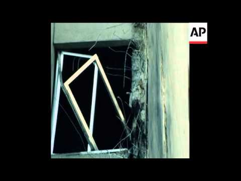SYND 29 9 78 HOSPITAL AND BUILDINGS IN BEIRUT DAMAGED BY SHELLING