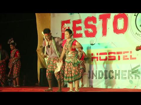 Sambalpuri Folk Dance-Pakhana Upare Jharana Pani-Hostel Day-2016-PU