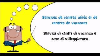 VOCABULAIRE FRANCAIS ITALIEN # Thème = Services d'hôtellerie
