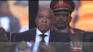 Zuma booed by FNB Stadium crowd but cheers Motlanthe & Mbeki