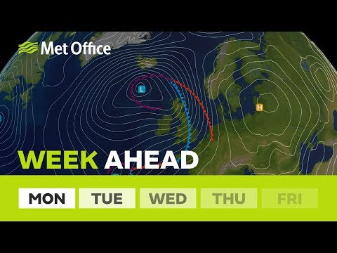 Week ahead – Turning much wetter and very windy 26/11/18