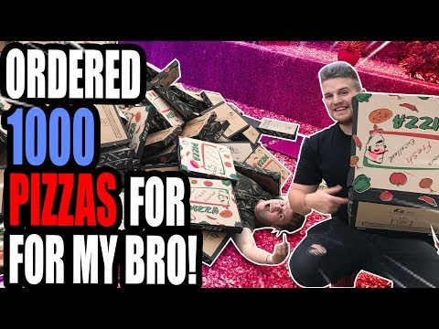 DELIVERED 1000 PIZZA'S TO MY BRO **PRANK!**