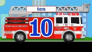 Learning to Count for Kids - Counting Fire Trucks, Fingers & Toes for Toddlers