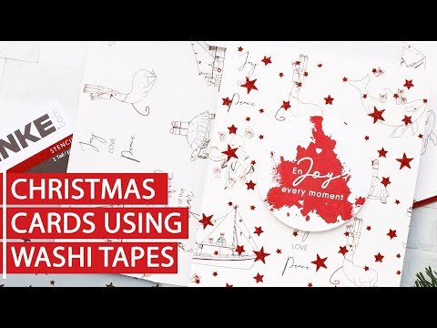 Easy Washi Tape Christmas Cards