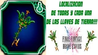 FINAL FANTASY BRAVE EXVIUS.LOCALIZACIÓN DE TODAS LAS LLAVES DE TIERRA EN ESPAÑOL!!!