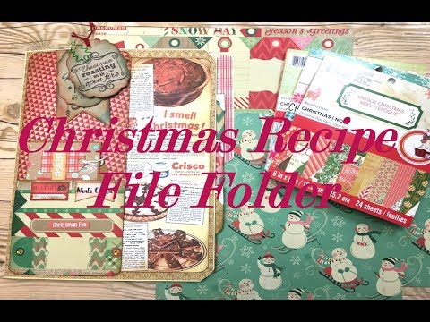 Christmas Recipe File Folder