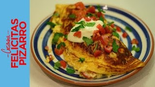 Brussels Sprouts, Tomato & Cheese Omelette | Felicitas Pizarro