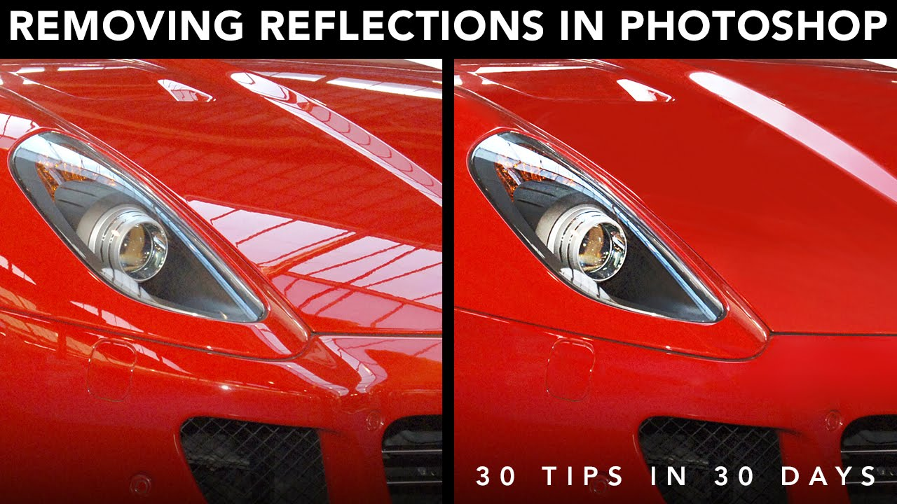 Removing Reflections In Photoshop Youtube
