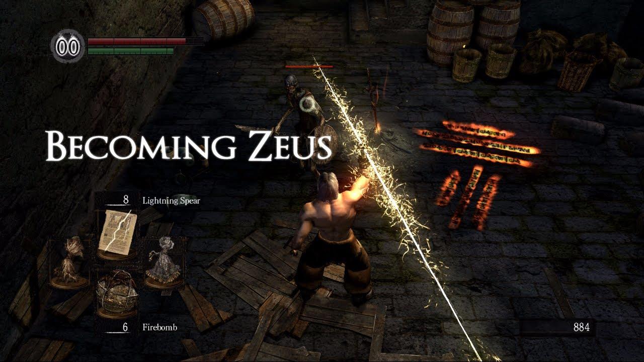 Dark Souls Becoming Zeus Part 3 Firekeeper soul Boar Lightning Spear - YouTube & Dark Souls: Becoming Zeus Part 3 Firekeeper soul Boar Lightning ... azcodes.com