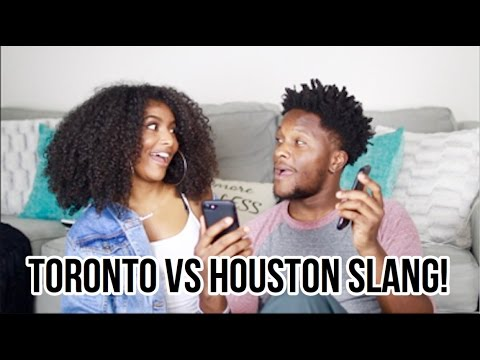 TORONTO VS HOUSTON SLANG CHALLENGE!