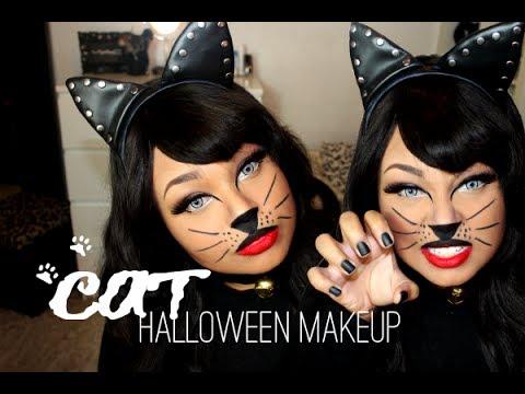 meow  wild cat halloween makeup  youtube