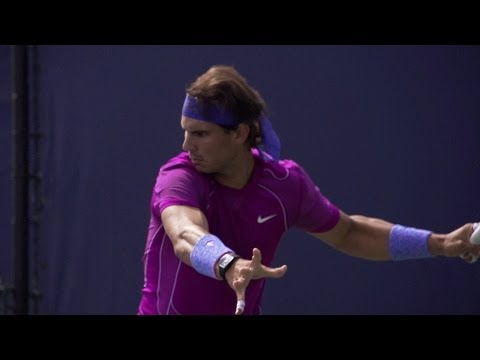 Rafael Nadal Ultimate Slow Motion Compilation - Forehand - Backhand - Serve - 2013 Cincinnati Open