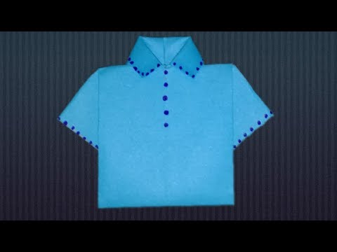 How to Make Paper Shirt - DIY Origami Paper Crafts.by sta tv