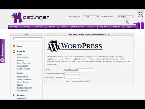 how to install wordpress in hostinger cpanel - YouTube