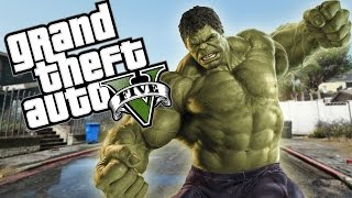 GTA 5 PC Mod - SUPER HERO HULK MOD (Avengers Hulk Vs. Iron Man)